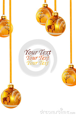 Free Yellow Christmas Balls Royalty Free Stock Photo - 31900255