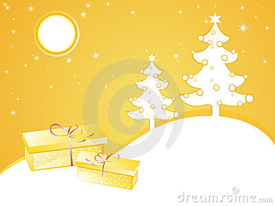 Yellow christmas card
