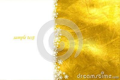 Yellow christmas card