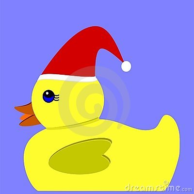 Yellow Christmas duck