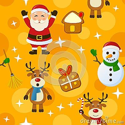 Free Yellow Christmas Seamless Pattern Royalty Free Stock Photos - 35411648