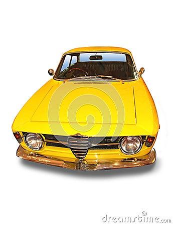 Yellow Classic Sport Car