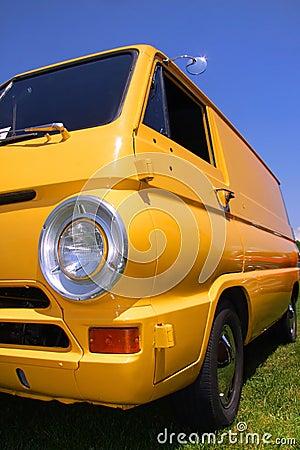 Yellow classic van