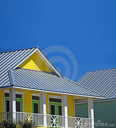 Yellow Coastal Home
