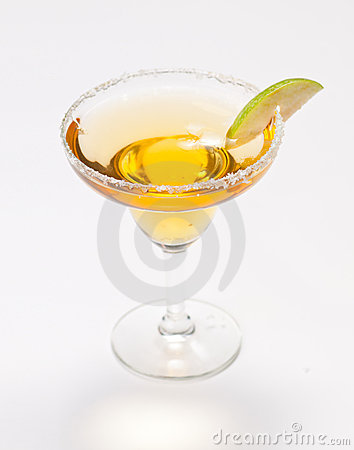 Yellow cocktail in glass