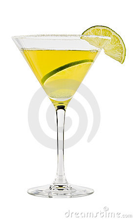 Free Yellow Cocktail In Martini Glass Stock Photos - 18847383