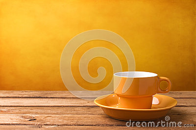 Yellow Coffee Cup Royalty Free Stock Photo - Image: 27045245