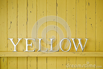 Yellow Color Word Background