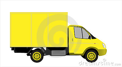 Yellow commercial vehicle  vectror illustration