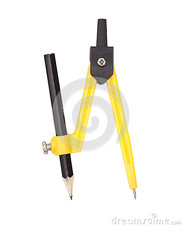 Free Yellow Compass With Pencil Royalty Free Stock Photo - 55971725