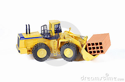 Yellow construction machinery