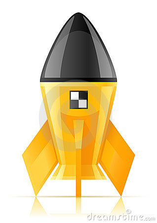 Yellow cosmic rocket
