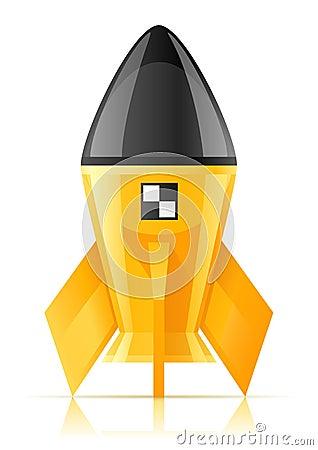 Yellow cosmic rocket