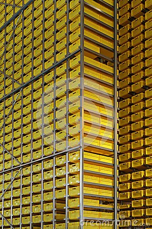 Yellow crates tower
