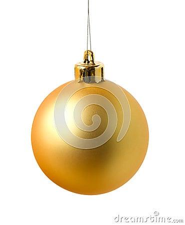 Free Yellow Cristmas Ball Royalty Free Stock Photos - 3567088