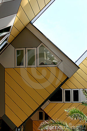 Yellow cube houses in Rotterdam, Holland