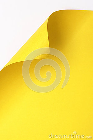 Yellow curl paper