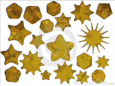 Yellow Desert Military Camouflage Star Stickers