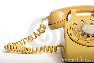 Yellow dial phone