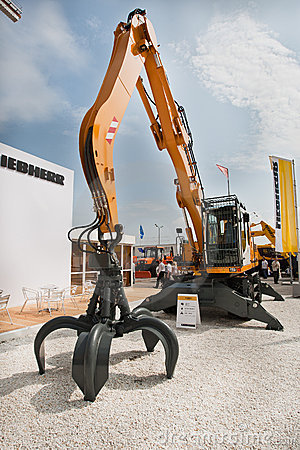 Yellow diesel excavator Editorial Image