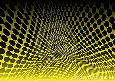 Yellow dots in abstract space