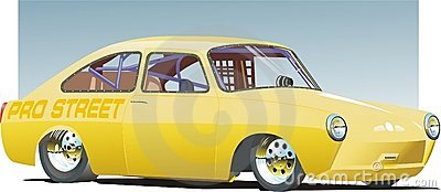 Yellow Drag Car