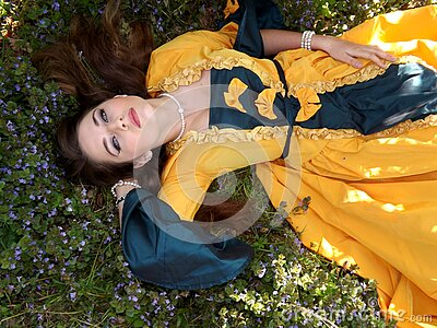 Yellow Dressed Woman On Green Leafed Plant Free Public Domain Cc0 Image