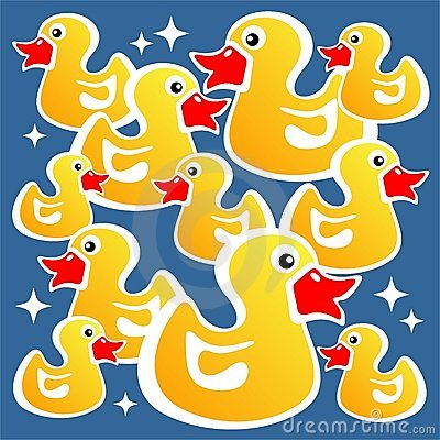 Yellow ducks background