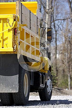 Yellow Dump Truck Detail