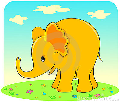 Yellow elephant.