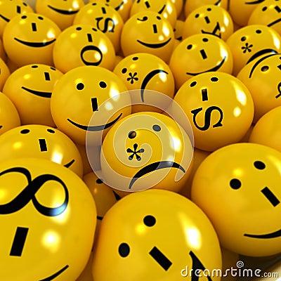 Free Yellow Emoticons Stock Photo - 3987140
