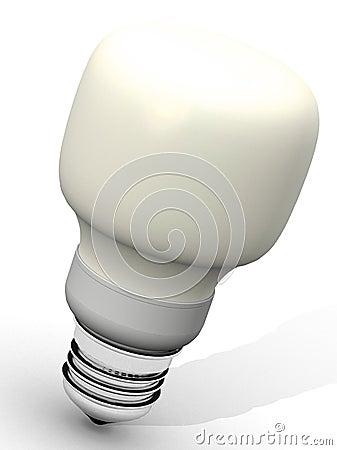 Free Yellow Energy Saver Light Bulb Stock Images - 1867504