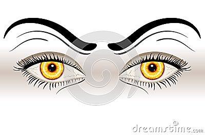 Yellow Evil Eyes