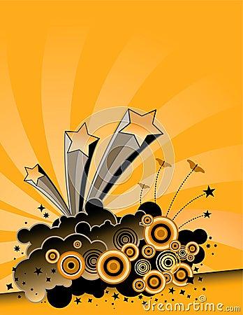 Free Yellow Explosion Background Stock Image - 4870331
