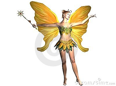 Yellow Fairy with Magic Wand