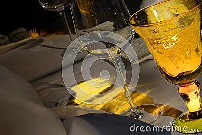 Yellow Festive table set