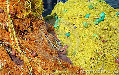 Yellow fishing nets