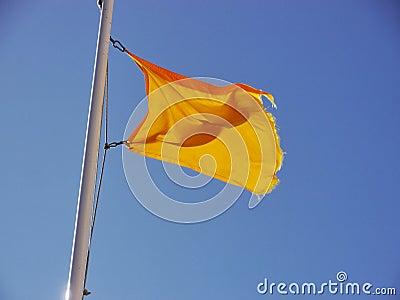 Yellow flag sky