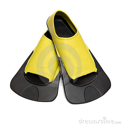 Free Yellow Flippers For Swimming Stock Image - 14229061