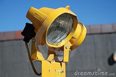 Yellow floodlight