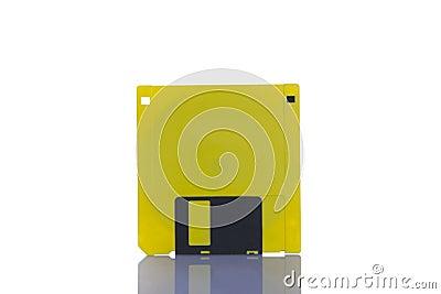 Yellow Floppy Disc