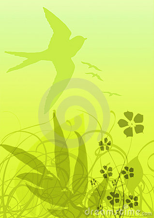 Yellow flora background