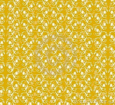 Yellow Floral Pattern Stock Image - Image: 2611441