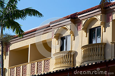 Yellow floridian architecture