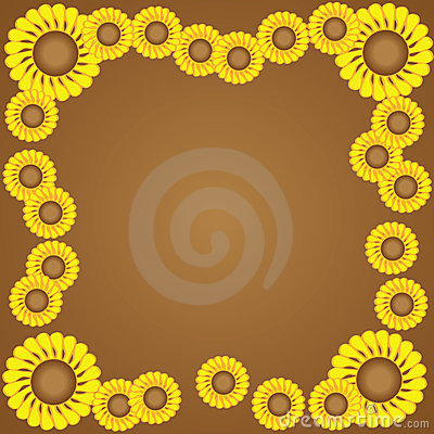 Free Yellow Flower Border Stock Photos - 23571063