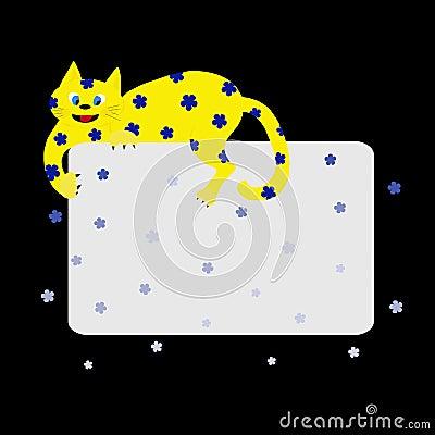 Yellow Flower Cat