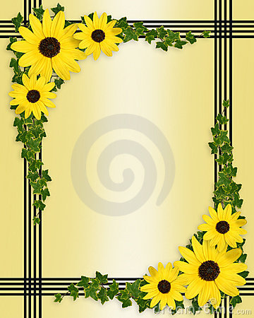 Floral Border Yellow Flowers Royalty Free Stock Photo - Image ...