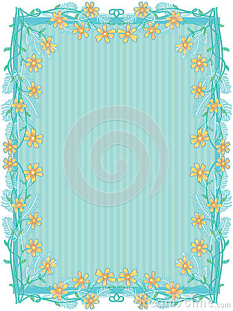 Yellow Flowers Frame Decor_eps