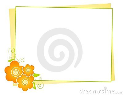 Yellow Flowers Note Paper Background