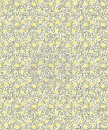 Yellow flowers seamless background